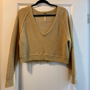 Fee people cropped sweater